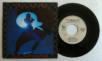 """NEIL YOUNG 'Little Thing Called Love' 1982 Italian 7"""" / 45 vinyl single"""