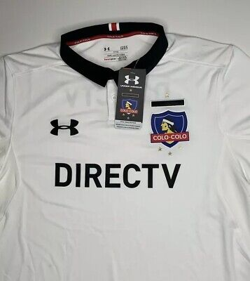7399e6ee4 NWT Mens Under Armour Colo Colo Chile Soccer Team Jersey Size Large Heatgear