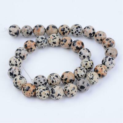 30  Perles en  jaspe dalmatien naturel 4 mm gemme naturel