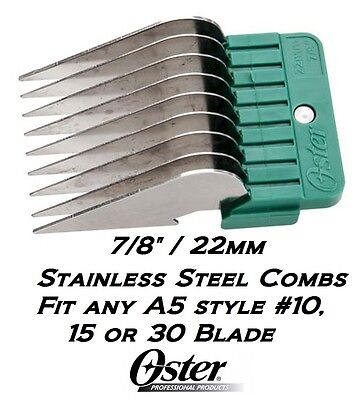 "OSTER A5 A6 STAINLESS STEEL ATTACHMENT GUIDE 7/8""COMB FitMany Andis,Wahl Clipper"