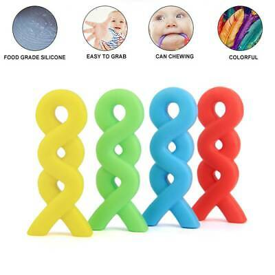 Pendant Necklace Baby Teether Silicone Chew Pacifier Autism Sensory Toy Colorful
