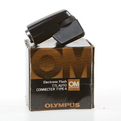 Boxed Olympus Om Electronic Flash Ttl Auto Connecter Type 4 - Excellent