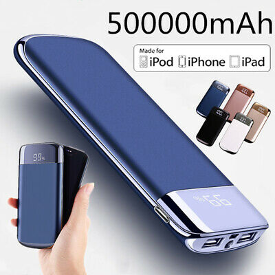 2019 New Portable External Battery Huge Capacity Power Bank 500000mAh Charger UK