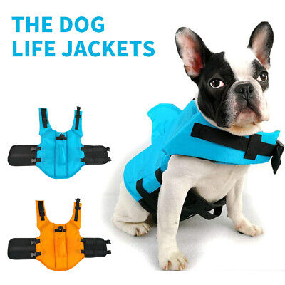 Pet Dog Life Jacket  Swimming Vest Dog Safety Clothes Swimming Suit XS-XXL