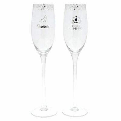 Disney Enchanting Cinderella Wedding Champagne Toasting Glasses - Boxed