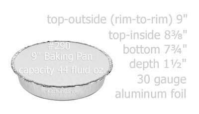 "9"" Round Disposable Aluminum Foil Carryout Pans w/ Board Lid - #290L"