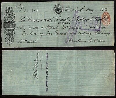 1913 Signed Cheque REVD. A. STUART McNAIRN, Evangelical Discovered MACHU PICCHU