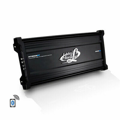 Lanzar HTG558BT Heritage Series 3000w Bluetooth Audio 5 Channel Mosfet Amplifier