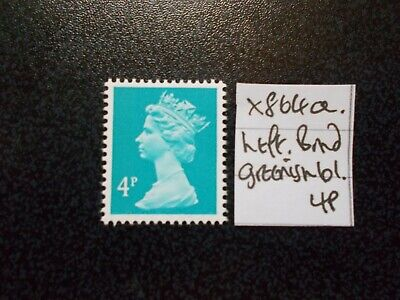 GB 1971~ Machin~4p~SG X864a~Left Band~Greenish Blue~Unmounted Mint~UK