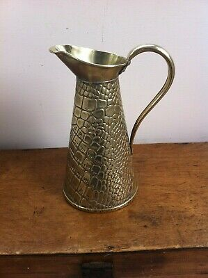 LARGE DECORATIVE ANTIQUE BRASS J.SANKEY & SONS of BILSTON WATER JUG 9 inches