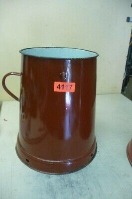 4117. Alter Emaille Email Topf Vorratstopf Old enamelware pot