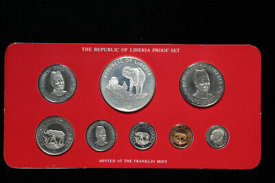Liberia 1978 Franklin Mint Silver Proof Coin Set