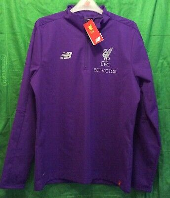e4a401c1f GENUINE MEN'S Liverpool fc training top/ ZIP UP / BNWT / LARGE /PURPLE