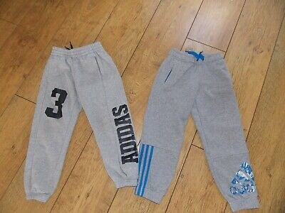 Boys Adidas Tracksuit Bottoms Joggers Age 5-6 Years