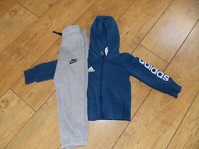 Boys Adidas Tracksuit Top Nike Joggers Age 4-5 Years