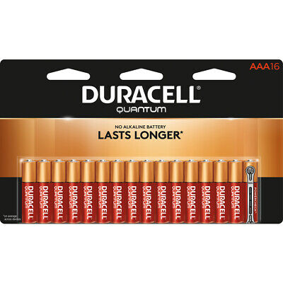 Duracell Quantum AAA Batteries 16 Pack Expiration Date 2027 BRAND NEW