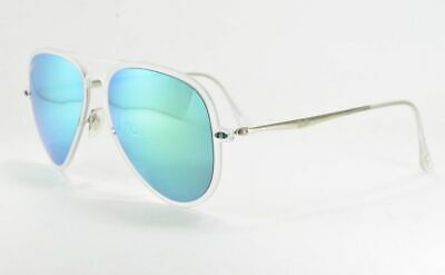 0632a1ad24c4 Ray-Ban RB4211 646/3R Transparent / Green Mirror Sunglasses 56 mm