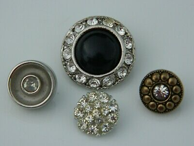 LOT Vintage & Antique Rhinestone BUTTONS all different