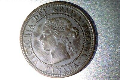 Canada  1876-H Large Cent  Xf  Repunched 8  #Q104