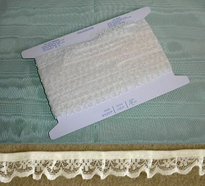 Gathered Narrow  Cream Lace 10 meters (134)
