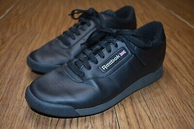 Reebok Classic Sneakers Shoes Black Princess Womens 8 Walking Lace Up Comfort