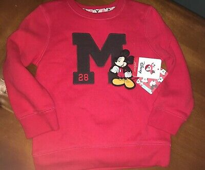 Disney Toddler Boys' Mickey Mouse Red Sweatshirt Kohl's Quality 4t NWT
