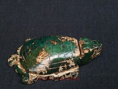 Collected Old Chinese Green Jade Carving Turtle Pendant Paperweight Decoration