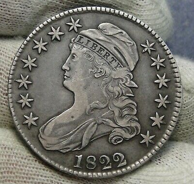 1822/1 Capped Bust Half Dollar 50 Cents - Nice Coin Free Shipping (8451)