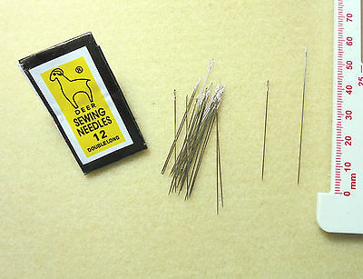 Beading Needles -1 pack of 25 Deer Short Beading Needles - size 12