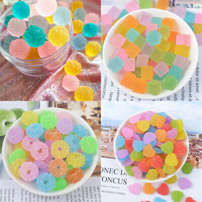 20 pcs Plastic Jelly Drops Slime Charms Cabochons Many Kinds DIY Jewellery Craft