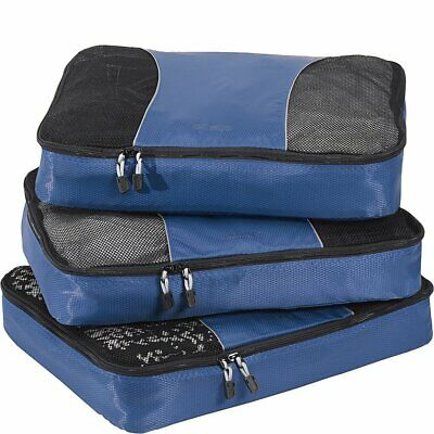 Large Classic Packing Cubes for Travel - 3pc Set