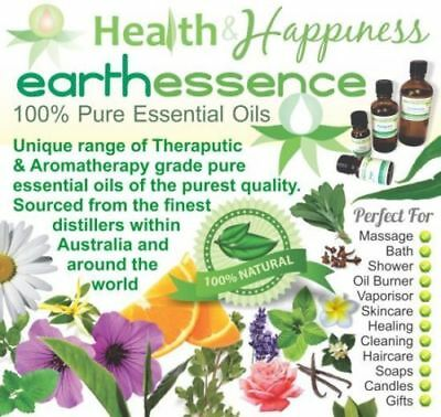 earthessence Certified 100% Pure Essential Oils : A ~ G : 5ML 10ML 50ML 100ML