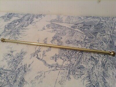 Vintage French Extendable Brass Cafe Curtain Rod 30-54cm (3901)