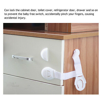 10X Drawer Cabinet Safety Locks Cupboard Lock Doors Stopper For Children Infant