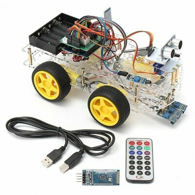 Robot Car Kit For Arduino 4WD Autonomous Obstacle Avoid Line Android