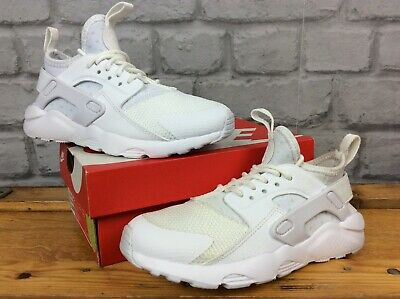 Nike Uk 12 Eu 30 White Huarache Run Trainers Girls Boys Childrens  Cs