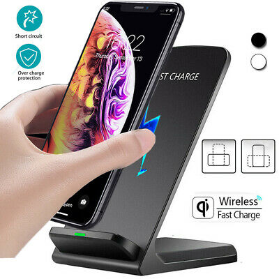 10W Qi Wireless Fast Charger Charging Stand Dock For Samsung S10 S9 iPhone Xs 8