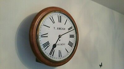 Antique, 14 inch fusee  dial School / Station clock