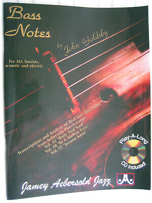 bass notes by  john goldsby  with cd
