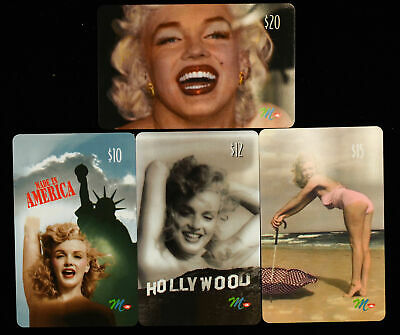 Marilyn Monroe Network Phone Card Collection $10 12 15 20 lot of 4 Pinup