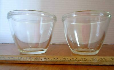 Pair of Vintage Pyrex Clear Glass Custard Cups #425 Dessert Cups