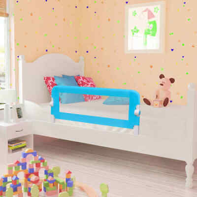 vidaXL 2x Toddler Safety Bed Rail Blue 102x42cm Cotbed Protective Gate Guard#
