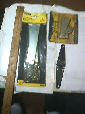 "vintage new old stock (5) strap Hinges (2) STANLEY 6"" (2)3"" Fence Gate Barn Shed"