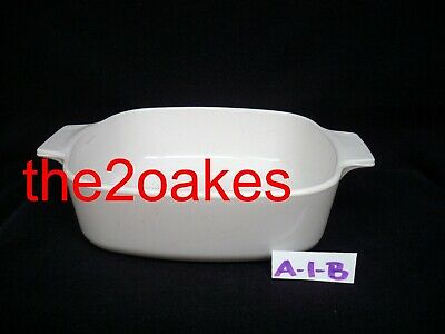 A-1 Winter Frost White Just Corning Ware Casserole Dish Bowl Pan Corelle qt Lid