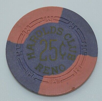 1950's Harold's Club 25¢ Casino Chip Reno Nevada H.C.E. Mold