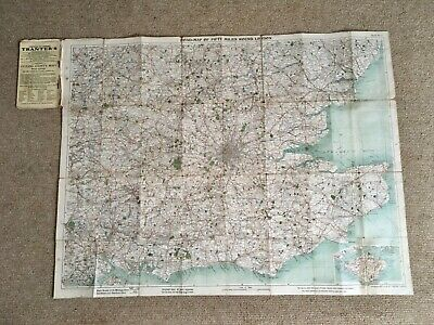 Old Bacon's Cycling & Motoring Road Map 50 Mile London Radius Sheet 6