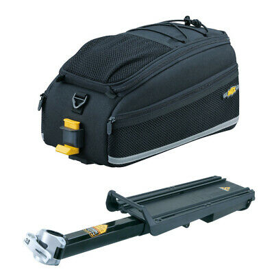 Topeak MTX Bike Trunk Bag EX and Bicycle Rack with Disc Brake Mounts Kit