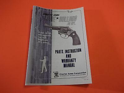 CHARTER ARMS UNDERCOVER  38 Special Six Page Owners Manual