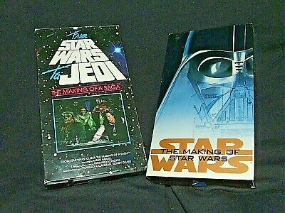 LOT of 2 VHS Movies STAR WARS TO JEDI The Making of a Saga & Making of Star Wars