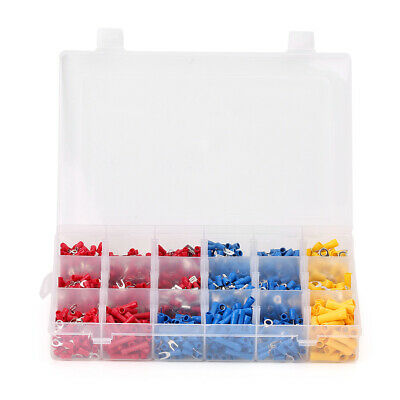 1200x Assorted Electrical Wiring Connectors Crimp Terminals Set Kits Insulated